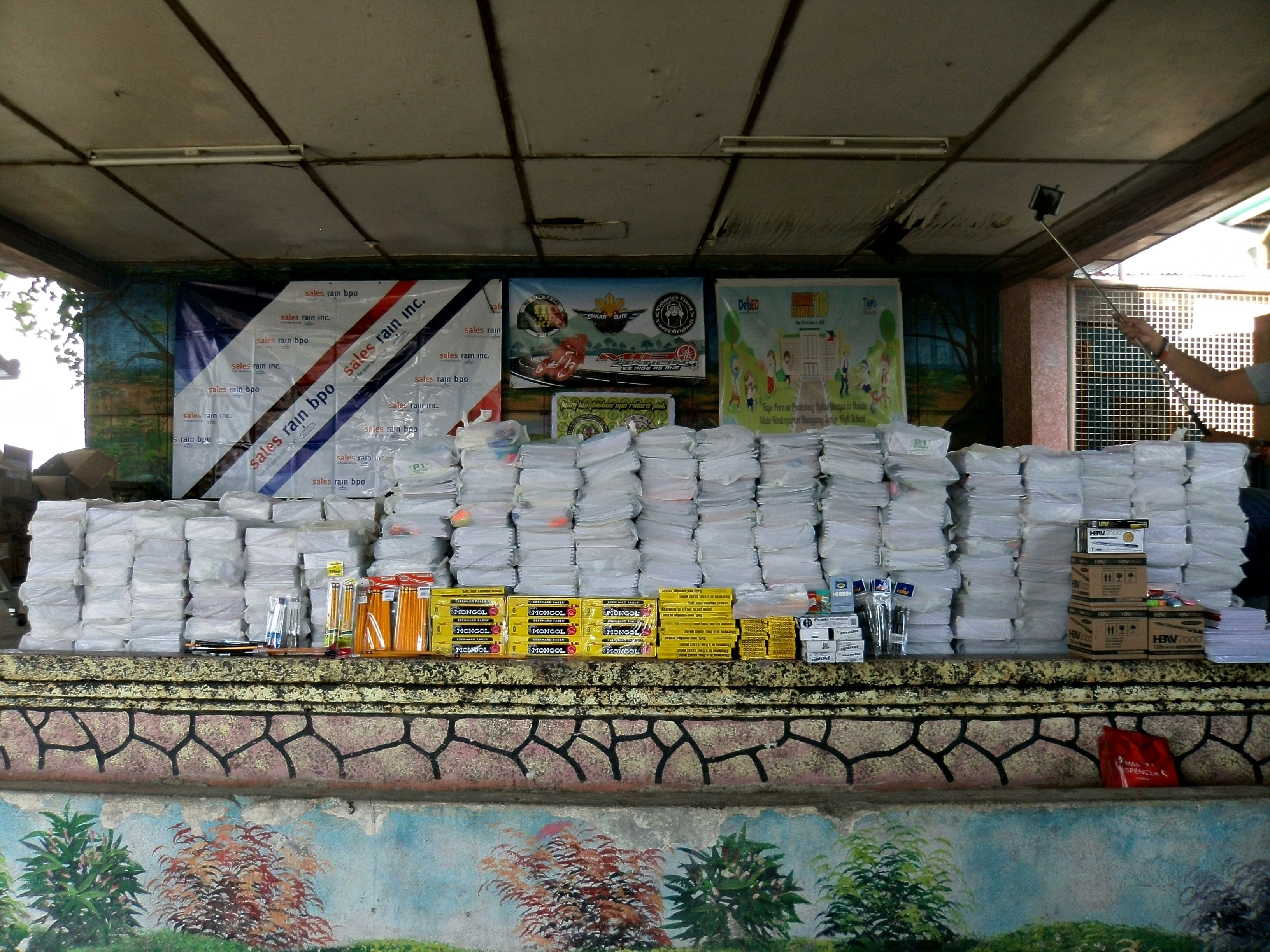 Sales Rain Contributes School Supplies to Pinagbayanan Elementary School