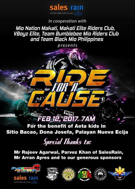Ride for a Cause Feb.12,2017 - Poster