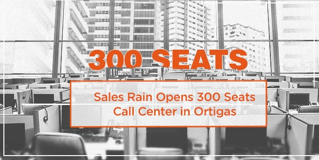 Sales Rain opens 300 seats call center in Ortigas
