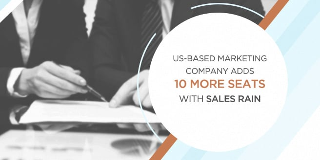 US-Based Marketing Company Adds 10 More Seats with Sales Rain