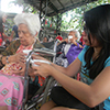 Food assistance to senior citizens in Antipolo.