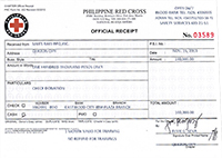 Sales Rain Donates 100,000 Php to Red Cross_Official Receipt