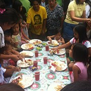 Sales Rain Launched a Feeding Program for Brgy.Tejeros Residents