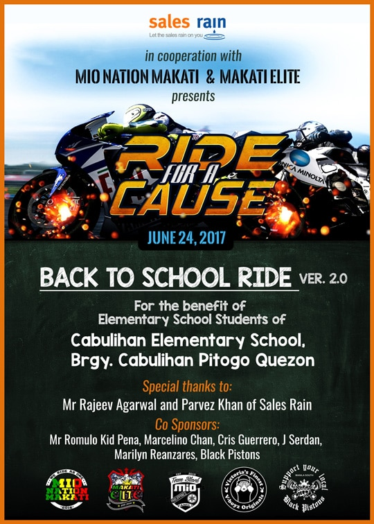 Ride for a Cause: Sales Rain provides assistance to Cabulihan Elem. School