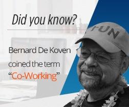 "Bernard De Koven coined the word ""co-working"""