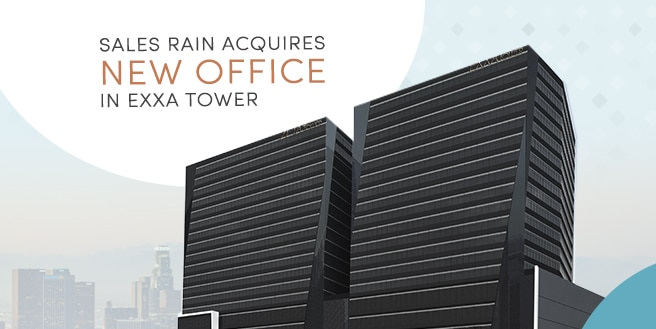 Sales Rain Acquires New Office in Exxa Tower, Bridgetowne IT Park