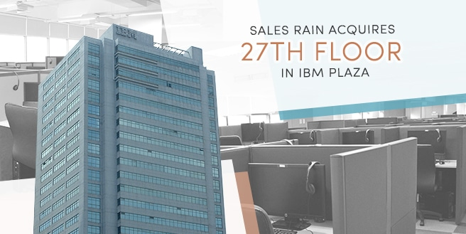 Sales Rain Acquires 27th Floor in IBM Plaza, Eastwood City