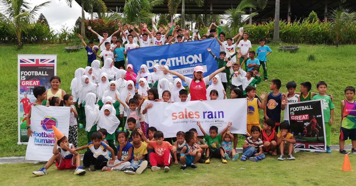 Sales Rain Joins Football for Humanity Foundation at Dar Amanah