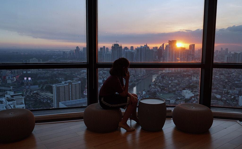 Sunset view in Sales Rain Mandaluyong